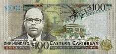 Восточные Карибы: 100 долларов (2012 г.)