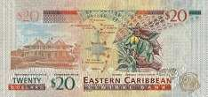 Восточные Карибы: 20 долларов (2015 г.)