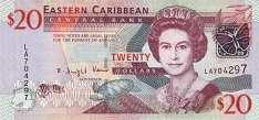 Восточные Карибы: 20 долларов (2008 г.)