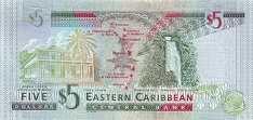 Восточные Карибы: 5 долларов (2008 г.)