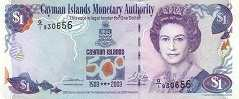 Каймановы о-ва: 1 доллар 2003 г. (юбилейная)