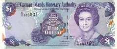 Каймановы о-ва: 1 доллар 1998-2006 г.