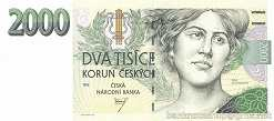 Чехия: 2000 крон 1996 г.