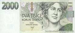 Чехия: 2000 крон 1999 г.