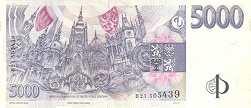 Чехия: 5000 крон 1999 г.