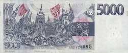 Чехия: 5000 крон 1993 г.