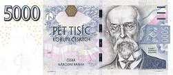 Чехия: 5000 крон 1993-2009 г.