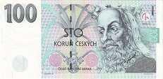 Чехия: 100 крон 1993-2018 г.