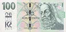 Чехия: 100 крон 2018 (2019) г. (юбилейная)