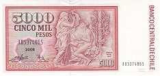 Чили: 5000 песо 1986-2007 г.