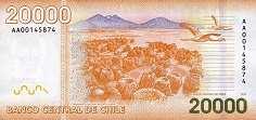 Чили: 20000 песо 2009-17 г.