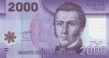 Чили: 2000 песо 2009-13 г.