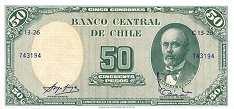 Чили: 50 песо (1958 г.) / 5 сентимов (1960 г.)