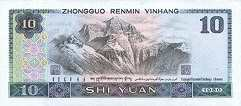 Китай: 10 юаней 1980 г.