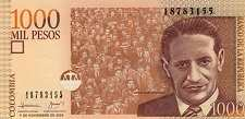 Колумбия: 1000 песо 2005-16 г.