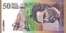 Колумбия: 50000 песо 2001-14 г.
