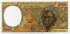 Конго: 2000 франков CFA-BEAC (1993-2002 г.)