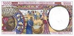 Конго: 5000 франков CFA-BEAC (1993-2002 г.)