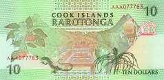 Острова Кука: 10 долларов (1992 г.)