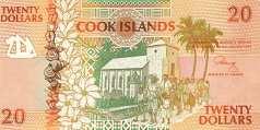 Острова Кука: 20 долларов (1992 г.)