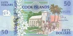 Острова Кука: 50 долларов (1992 г.)