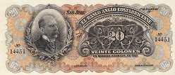 Коста-Рика: 20 колонов (1903-17 г.)