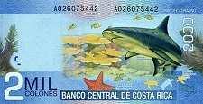 Коста-Рика: 2000 колонов 2009-15 г.