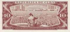 Куба: 10 песо 1967-89 г.