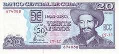 Куба: 20 песо (юбилейная) 2003 г.