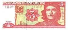 Куба: 3 песо 2004-06 г.
