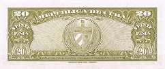 Куба: 20 песо 1949-60 г.