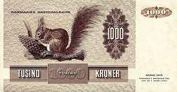 Дания: 1000 крон 1972 г.