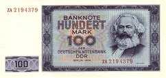 ГДР: 100 марок 1964 г.