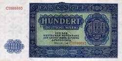 ГДР: 100 марок 1948 г.