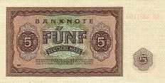 ГДР: 5 марок 1948 г.