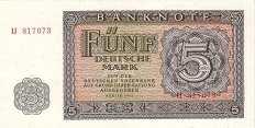 ГДР: 5 марок 1955 г.