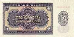 ГДР: 20 марок 1955 г.