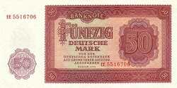 ГДР: 50 марок 1955 г.