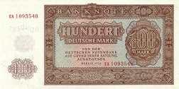 ГДР: 100 марок 1955 г.