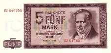 ГДР: 5 марок 1964 г.