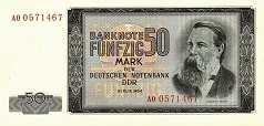 ГДР: 50 марок 1964 г.