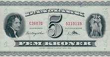 Дания: 5 крон 1936 (1950) г.