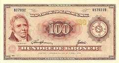 Дания: 100 крон 1936 (1950) г.
