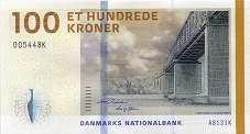 Дания: 100 крон 2009-15 г.