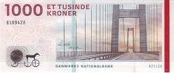 Дания: 1000 крон 2011-12 г.
