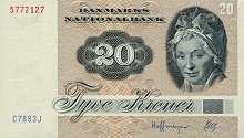 Дания: 20 крон 1972 г.
