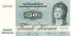 Дания: 50 крон 1972 г.