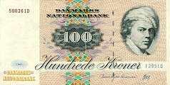 Дания: 100 крон 1972 (1994) г.