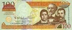 Доминиканская Респ.: 100 песо 2011-13 г.