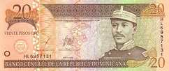 Доминиканская Респ.: 20 песо 2001-04 г.